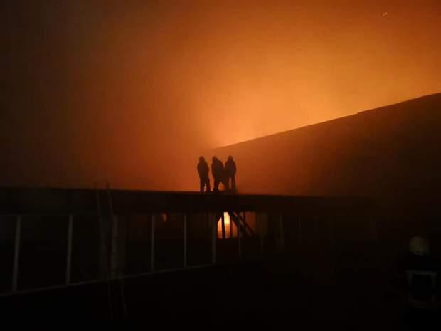 Пожежа на складі в Києві