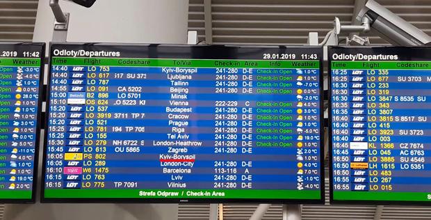 Аеропорти Польщі змінили транслітерацію Києва