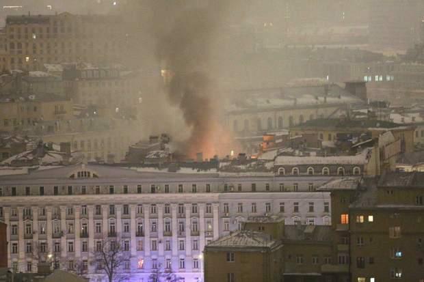 Пожежа у центрі Москви