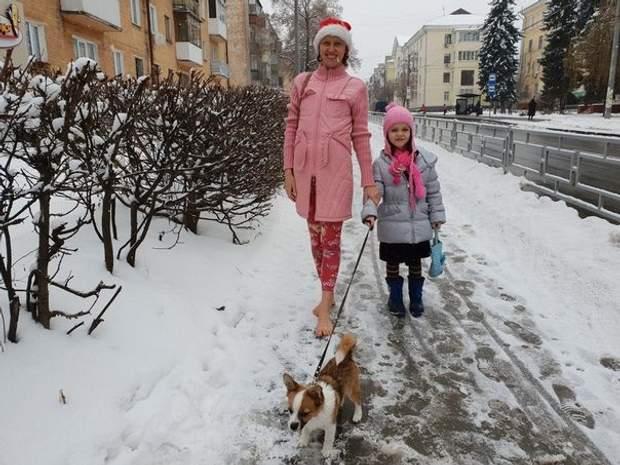 Іванна Красносільська протягом року ходить босоніж