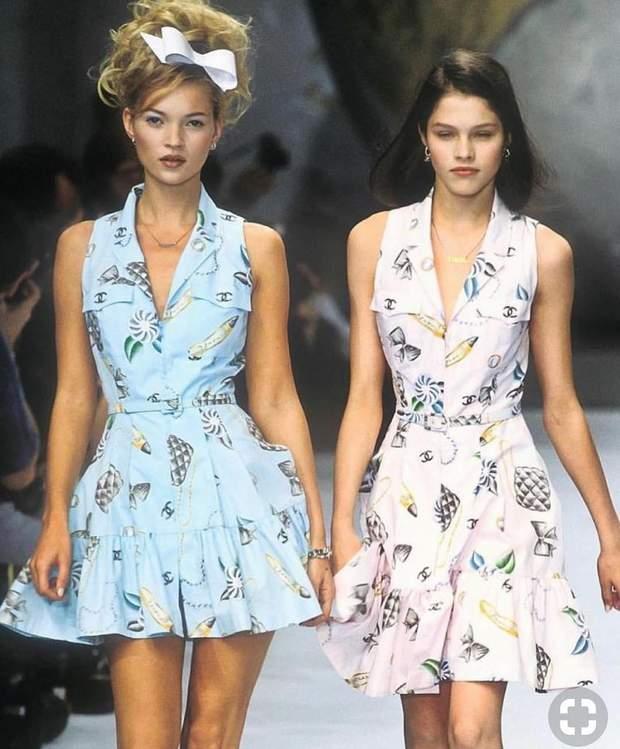 Кейт Мосс і Лоннеке Енгель 1990-ті