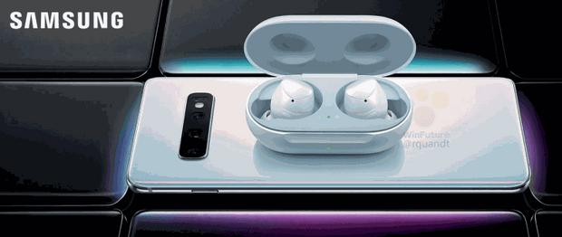 Samsung Galaxy S10 + заряджає навушники