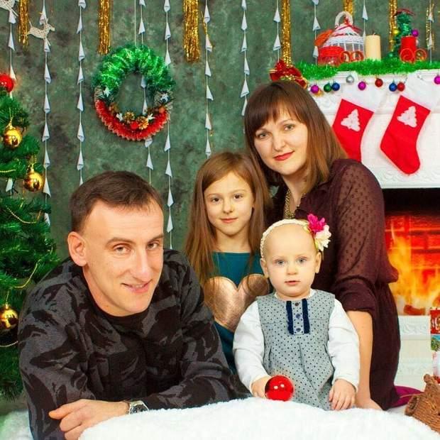 Рідний брат Лесі Нікітюк з родиною