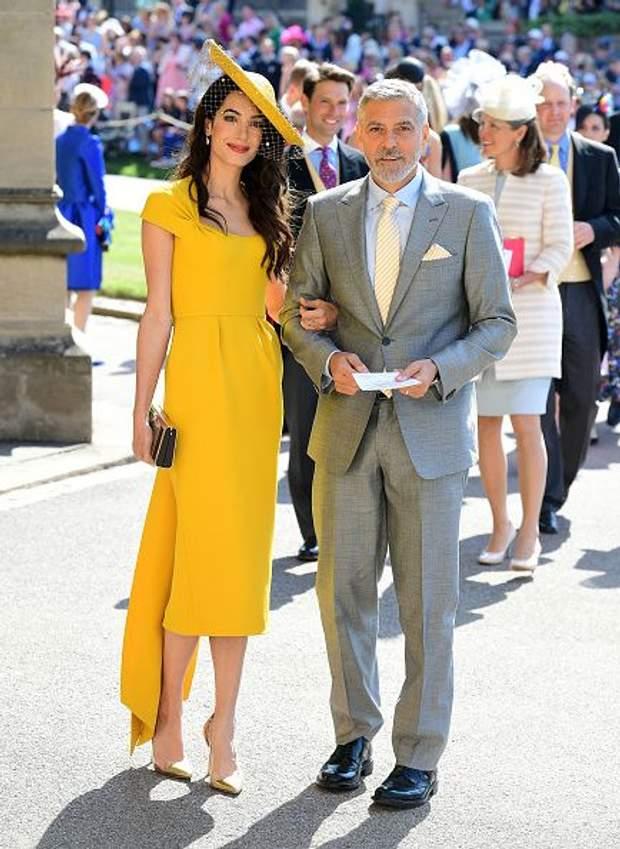 Джордж Клуні і Амаль Клуні на весіллі Меган МАкрл