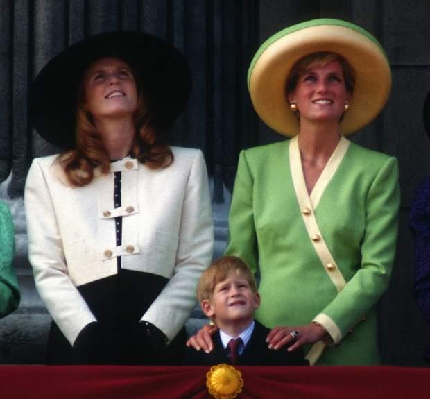 Сара Фергюсон і принцеса Діана 1990 рік
