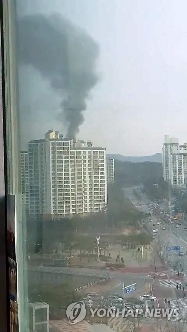 Вибух заводу боєприпасів  у Південній Кореї / фото Yonhap