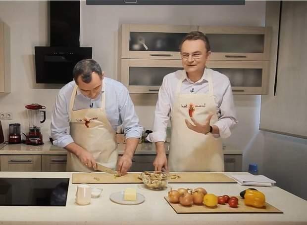 Садовий та Гацько приготували вечерю для коханих / Скріншот з відео