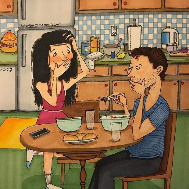 комікси кохання пара