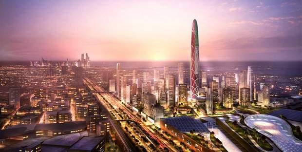 хмарочос відбиток пальця ОАЕ Дубай