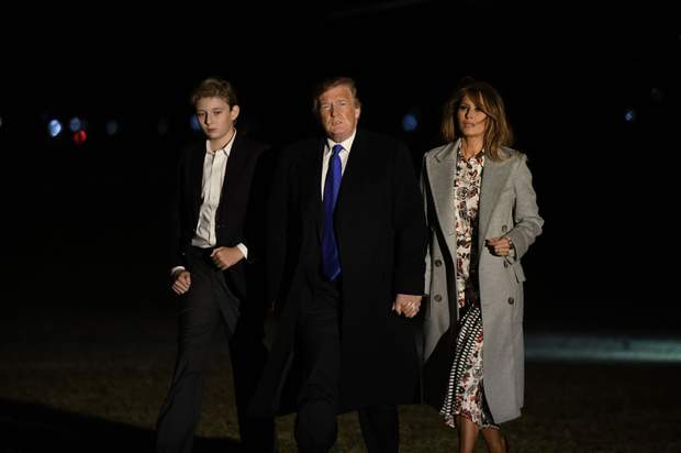 Дональд Трамп з сім'єю