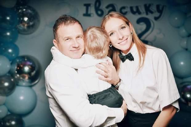 Юрій Горбунов і Катя Осадча з сином