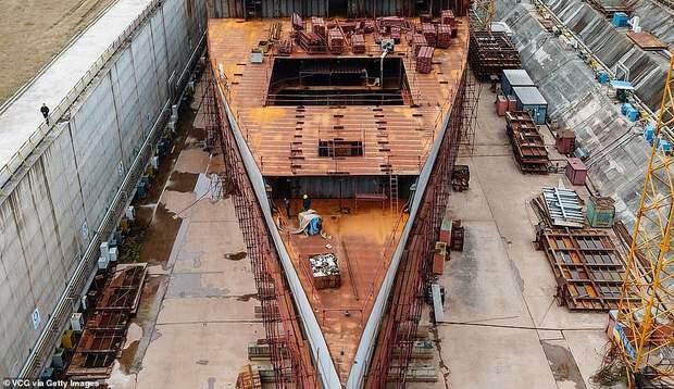 Титанік копія будівництво корабель лайнер
