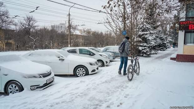 сніг Сімферополь лютий похолодання Крим