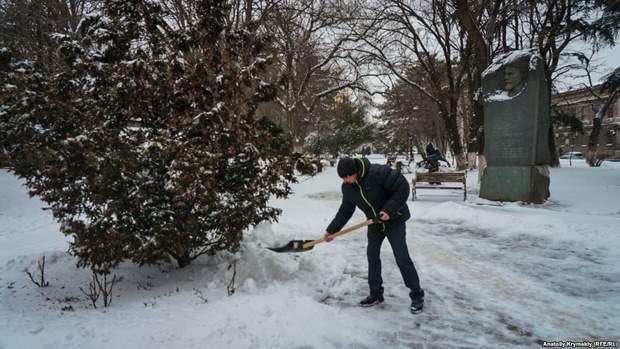 сніг Крим Сімферополь похолодання