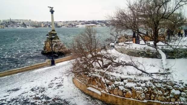 сніг Севастополь Крим похолодання