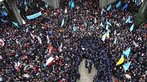 Мітинг 26 лютого 2014 року у Сімферополі