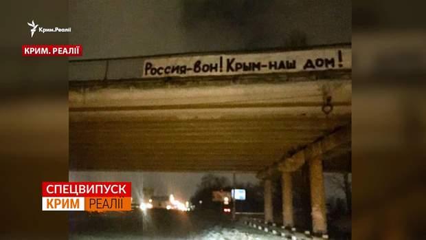 Такий банер вивісили в окупованому Криму
