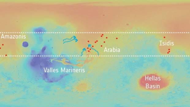Вчені проаналізували басейни, які позначені червоними крапками