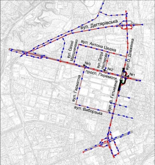 шулявський міст схема руху транспорту
