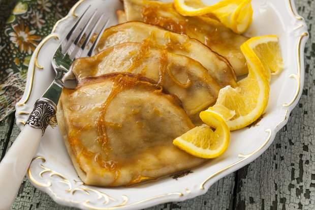 Млинці з апельсинами