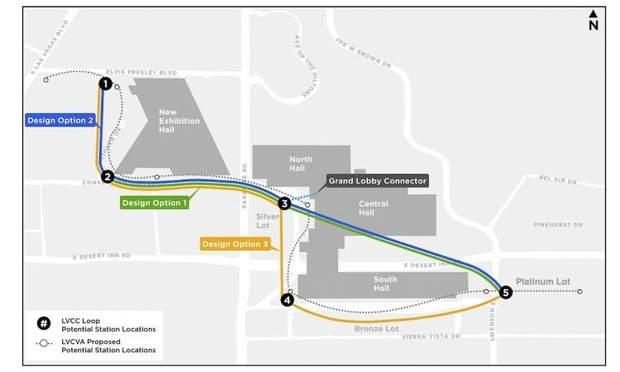 Схема тунелю під конференц-центром LVCC