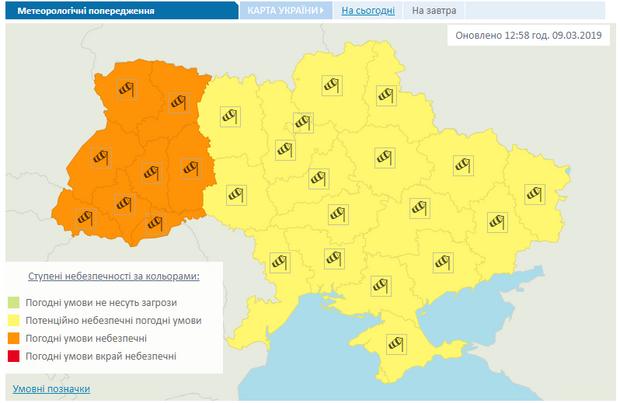 Штормове попередження, Україна, негода
