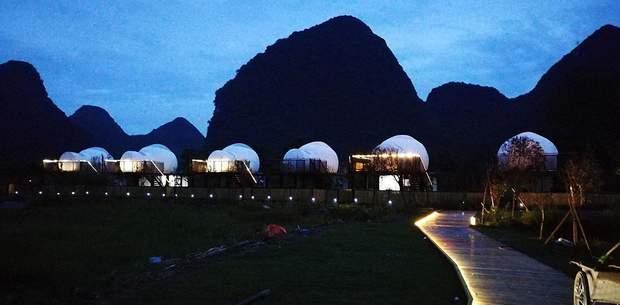 гламурний кемпінг Китай будинки бульбашки
