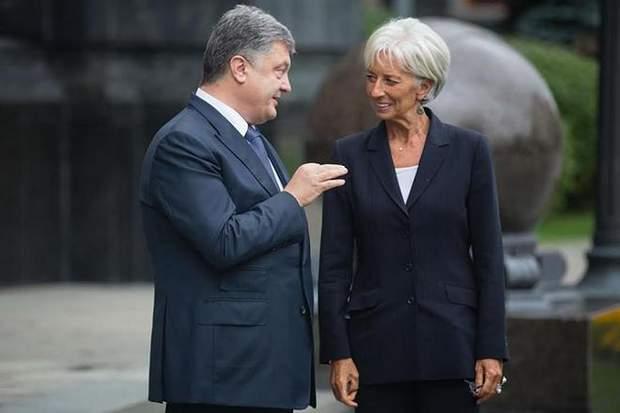 Петро Порошенко та Крістін Лагард