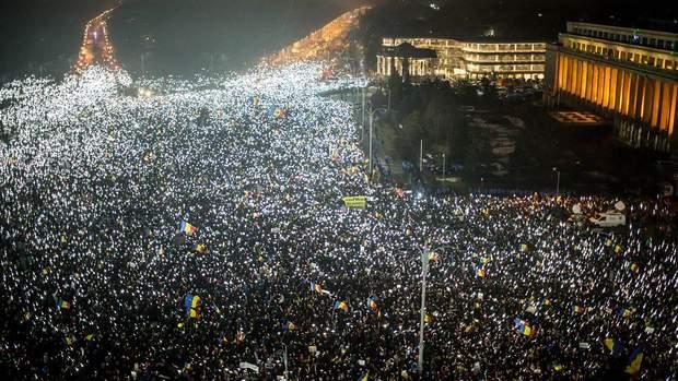 Мітинг в Румунії