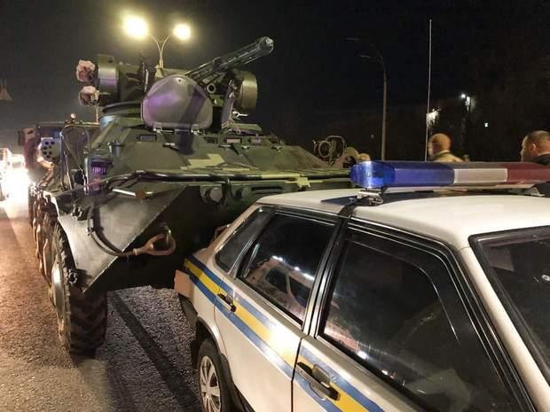 ДТП Київ аварія БТР авто військові
