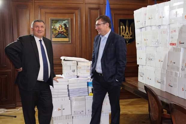 Арсен Аваков, Юрій Луценко, Олександ Клименко