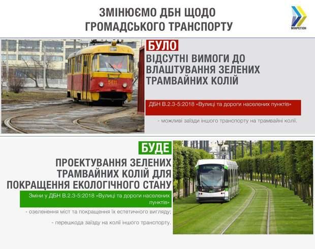 Зелені трамвайні колії