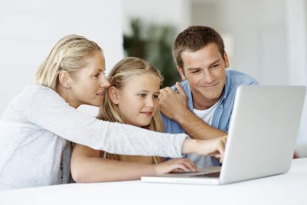батьки діти комп'ютер