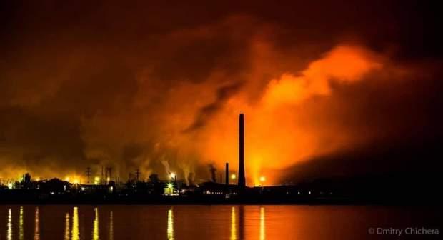 Азовсталь, пожежа, Маріуполь