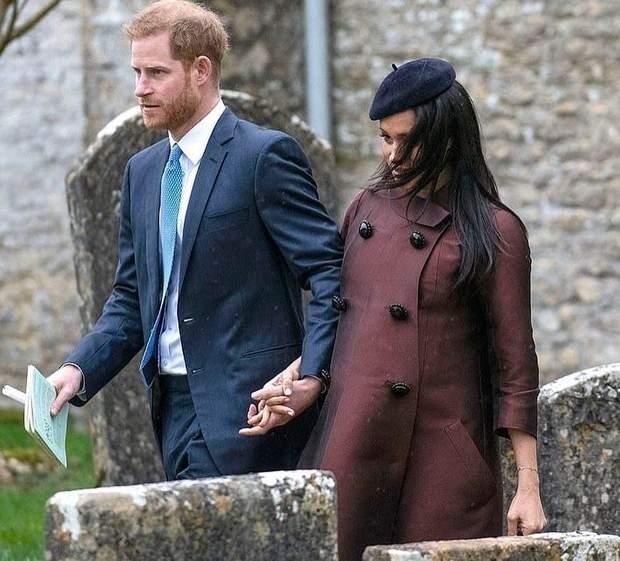 Принц Гарри и Меган Маркл стали почетными гостями крестин правнучки королевы Елизаветы II