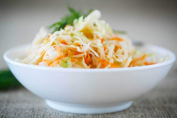 In alternatives to dairy products there will be a great bowl of sauerkraut