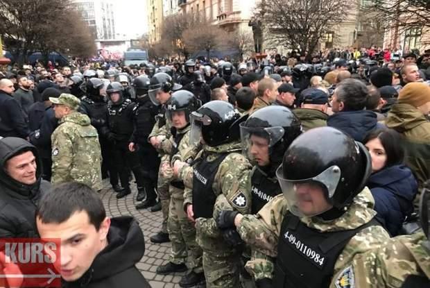 Нацкорпус Нацдружини Івано-Франківськ сутички протести Петро Порошенко