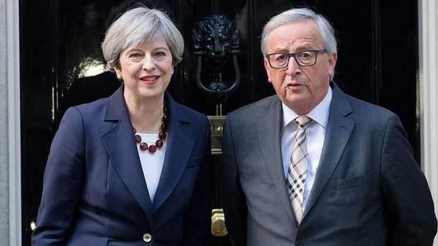 тереза мей юнкер brexit