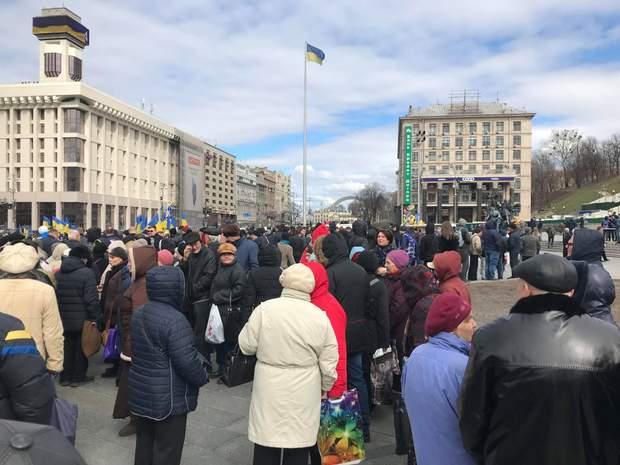 Митинг Нацкорпуса в Киеве