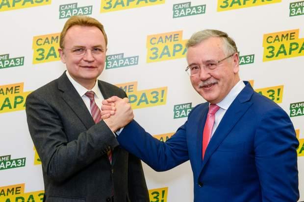 Гриценко та Садовий