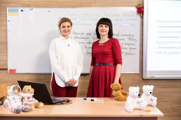 Олена Зеленська взяла участь в телеуроці