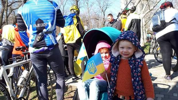 Учасниками Одеської велосотки стали навіть маленькі діти