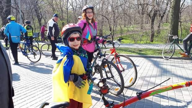 Юний учасник Одеської велосотки