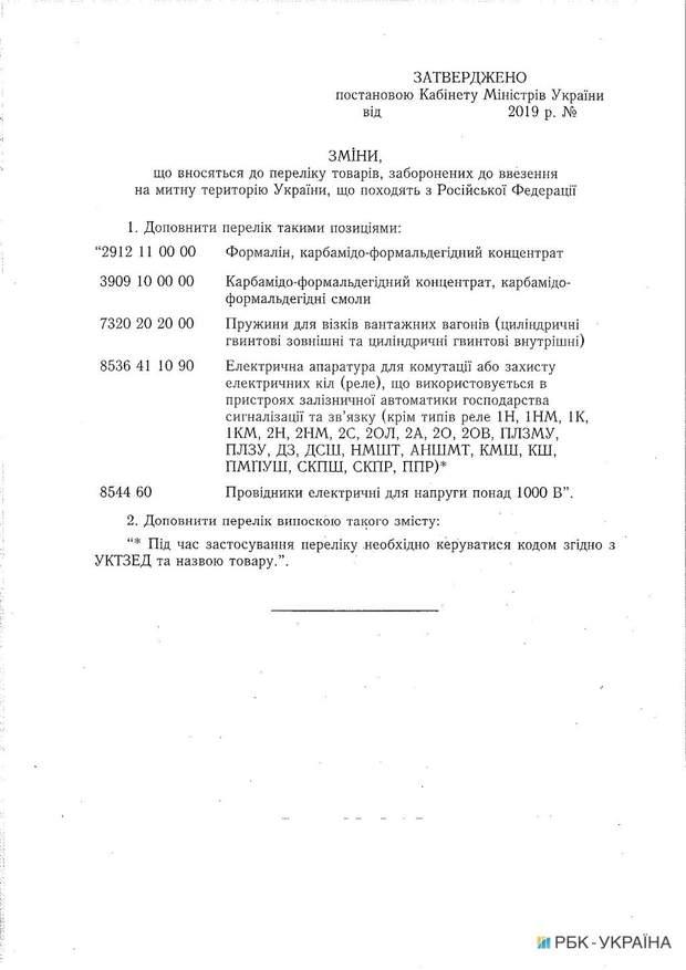 Україна розширила заборону на товари з Росії: що потрапило у список
