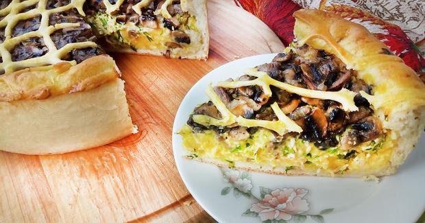 Рецепт грибного пирога