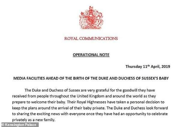 Неожиданно: Меган Маркл и принц Гарри не будут объявлять о рождении своего ребенка