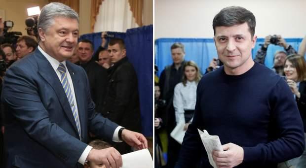 Зеленськи і Порошенко