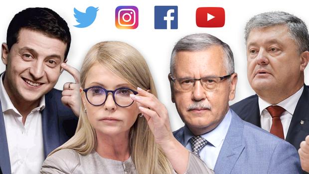 зеленський тимошенко порошенко соціальні мережі вибори