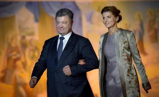 Петро Порошенко із дружиною Мариною
