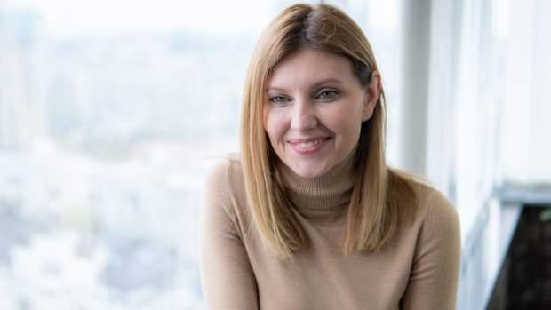 Дружина кандидата у президенти Олена Зеленська